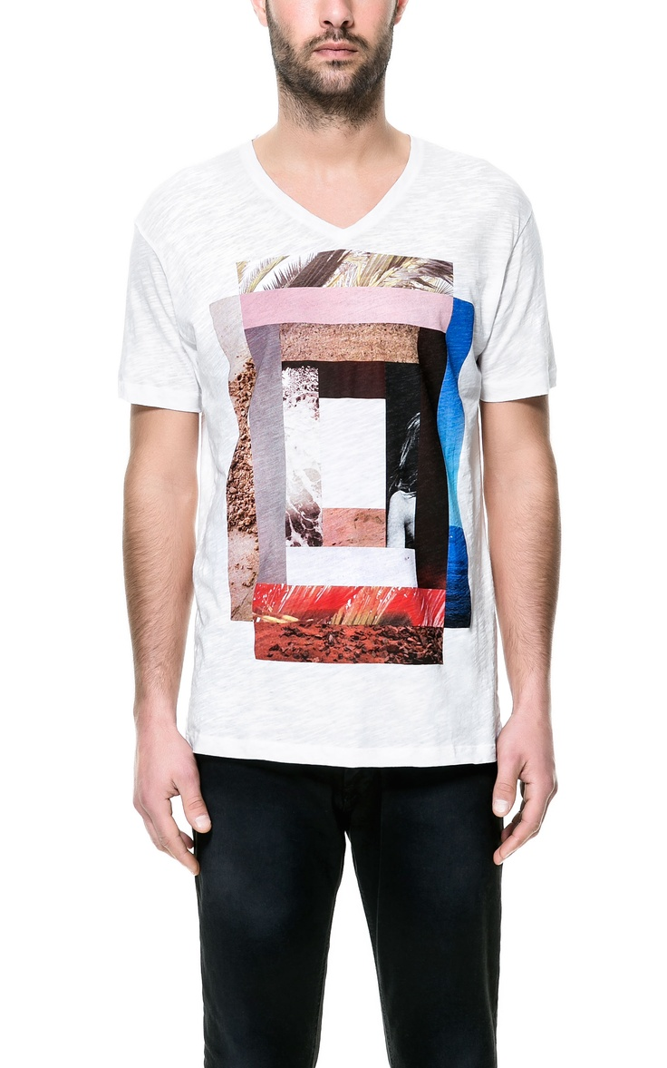 COLLAGE PRINT T-SHIRT - T-shirts - Man - ZARA France