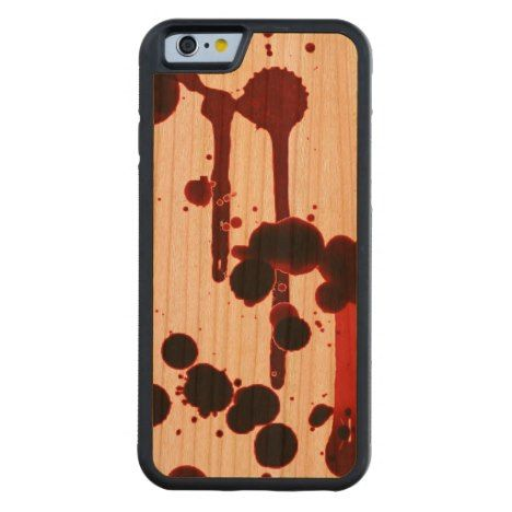 Designer Blood Splatter Carved Cherry iPhone 6 Bumper Case