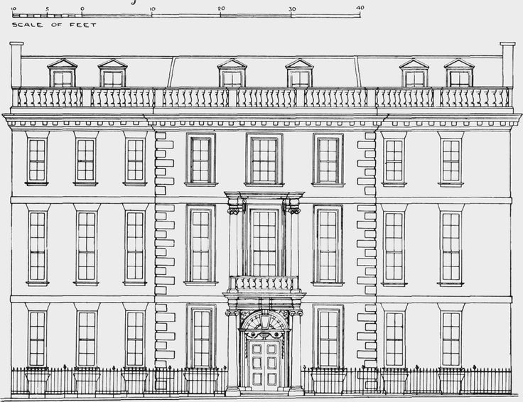 Plate 105: Harrington House, elevation | British History Online