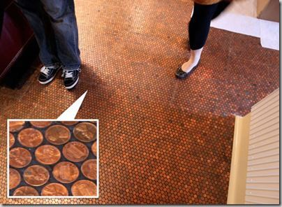 Math Problem... Copper Coin Floor Do you have money burning a hole in your pocket? Then you may want to consider creating your floor out of change.