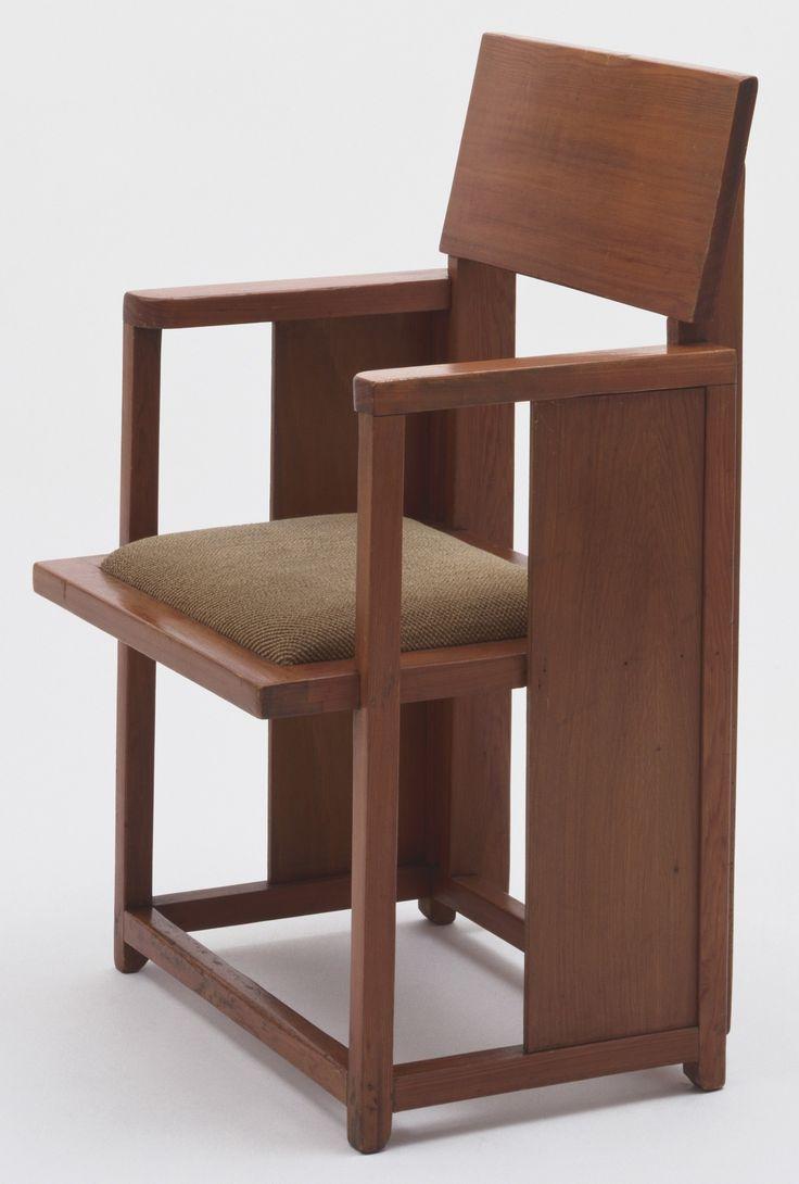 Frank Lloyd Wright Armchair C 1925 Pine And Fabric