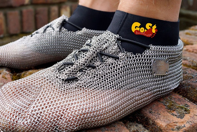 €178.00 PaleoBarefoots, Chainmail Shoes for Running