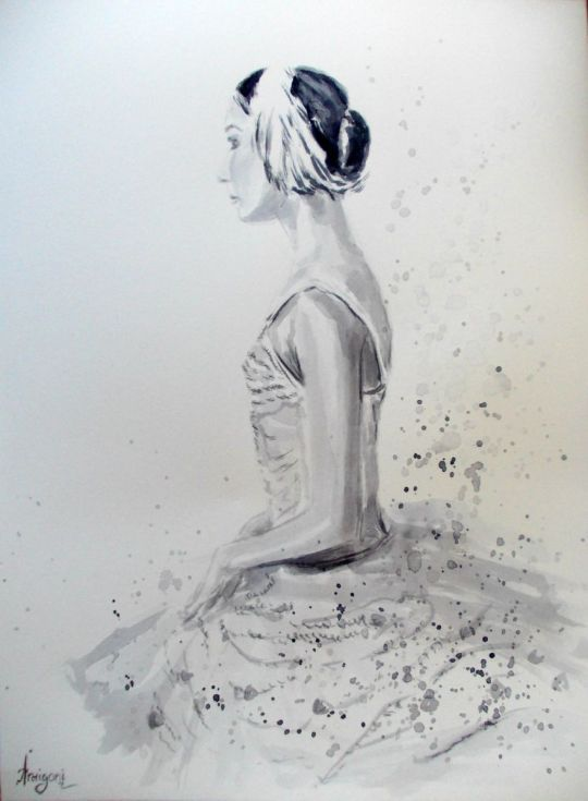 Buy Ballerina 8- Original ballet watercolor painting, Watercolor by Antigoni Tziora on Artfinder. Discover thousands of other original paintings, prints, sculptures and photography from independent artists.