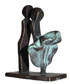 First Kiss  / Bronze Sculpture by Corinna de Jong