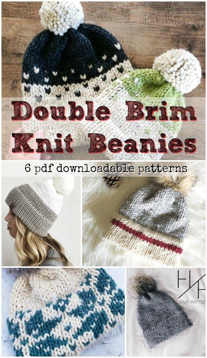 Double Brim Knit Hats Knitting Patterns Free Hats Beanie Knitting Patterns Free Knitted Hats