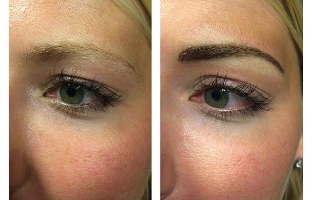 Eyebrows Tattoo Before and After
