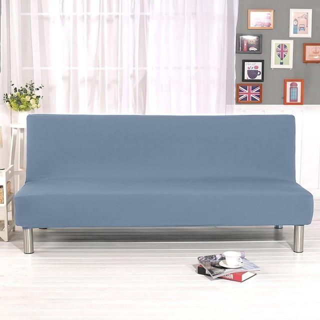 Housse De Clic Clac Convertible Couleur Unie Renewing En 2020 Decoration Maison Housse De Canape Extensible Styles De Decoration Interieure
