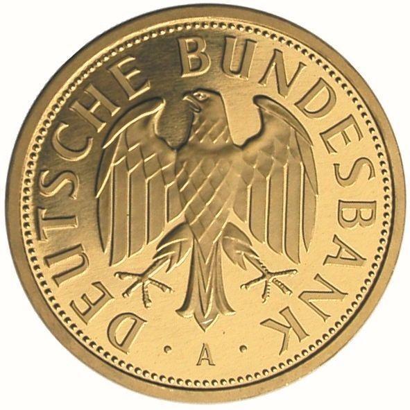 Goldmünze GOLDMARK 1DM Gold 2001 Deutsche Bundesbank A ( Berlin )