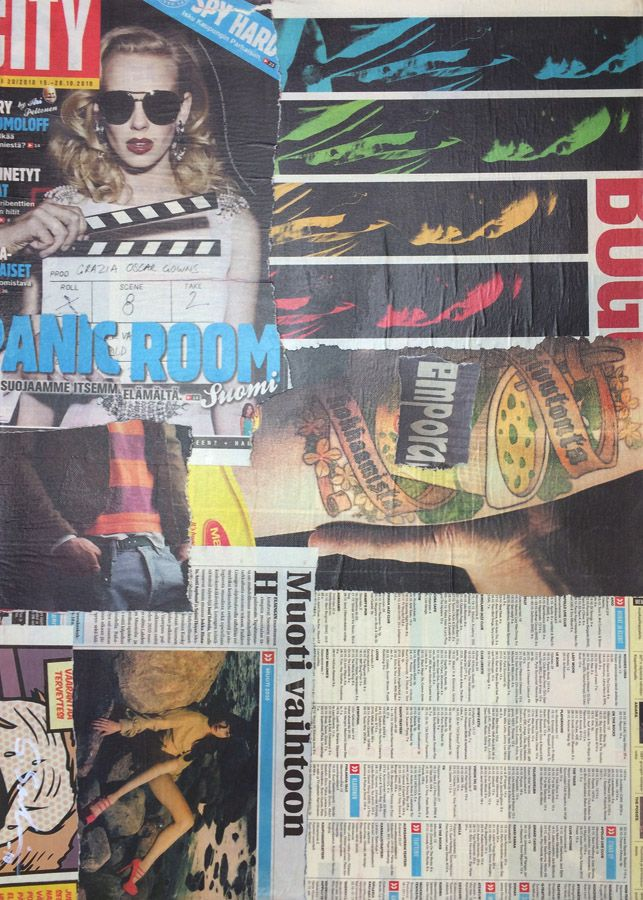 50x70 / newspaper on canvas / 2011 / sold