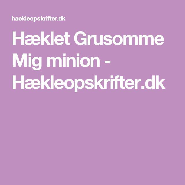 Hæklet Grusomme Mig minion - Hækleopskrifter.dk