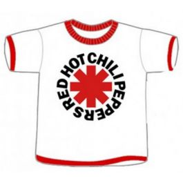 Red Hot Chili Peppers cool kids rock clothes T-shirt White/red in 4T