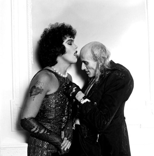 Dr Frank-N-Furter and Riff Raff, 'The Rocky Horror Picture Show', 1975.