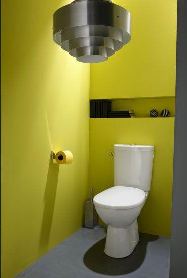 Peinture wc jaune sorbet d co grise leroy merlin les wc for Les differents gris en peinture