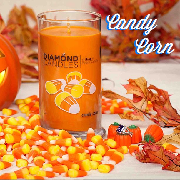 NEW- Candy Corn Candle by Diamond Candles! REPIN this if you'd LOVE to get one! Click 2 shop for it.