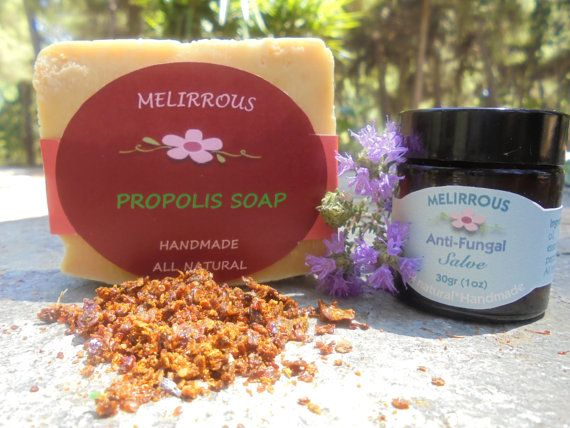 Set of Propolis Soap and Antifungal Salve. All by MelirrousBees