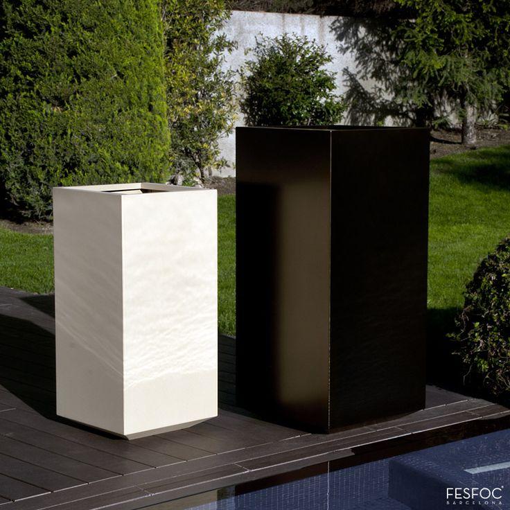 estas jardineras de acero inoxidable son totalmente idneas para una decoracin minimalista en ambientes elegantes y