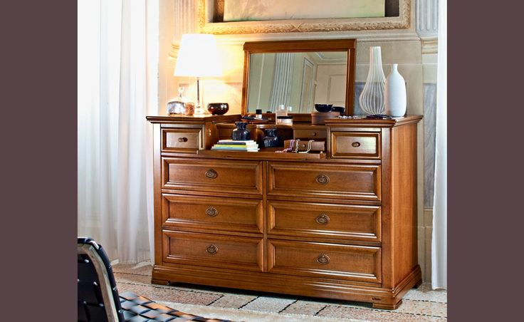 Diamante - Le Gemme   Classic Collections   Le Fablier   Openable chest of drawers   Measures in cm (LxDxH) 141x54x91   Structure in solid lime wood