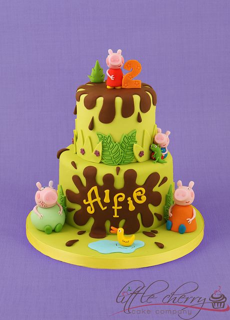 Peppa Pig Cake by Little Cherry Cake Company, via Flickr