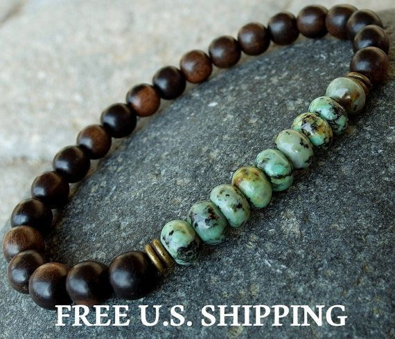 Positive change Mens African Turquoise Tiger by LifeForceEnergy, $24.00 #men'sjewelry #mensaccessoriesdiy