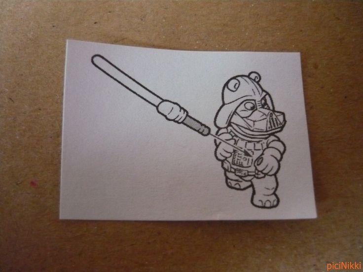 No. 19 | víziló | hippo | Happy Hippo | Kinder | Dark Laser | Star Wars