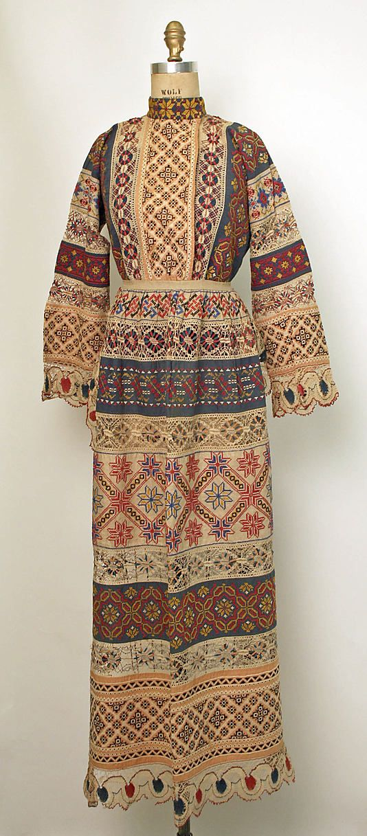 Ensemble Date: 1850–1925 Culture: Russian Medium: cotton, linen