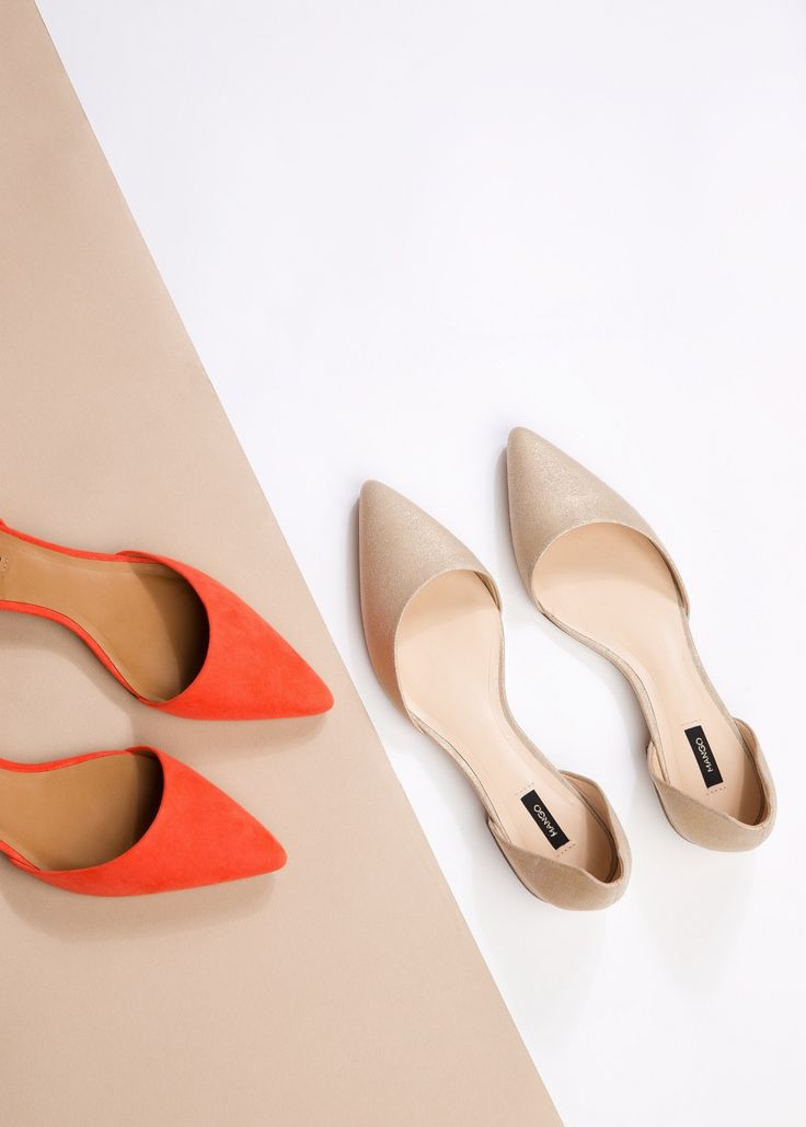 Chaussures plates pointues - Femme   MANGO