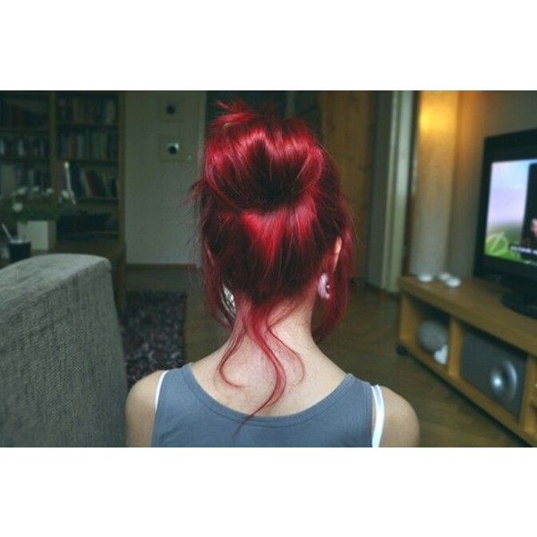 Reminds me od infra red by manic panic. Hair ❤ liked on Polyvore featuring accessories, hair accessories and hair