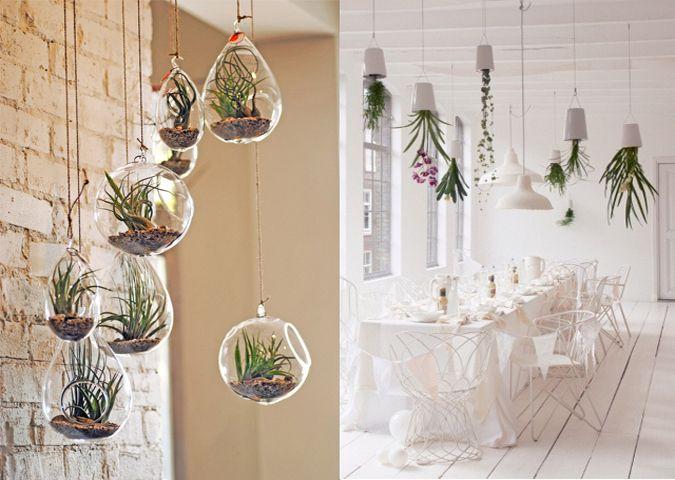 Hangende planten - groene slaapkamer