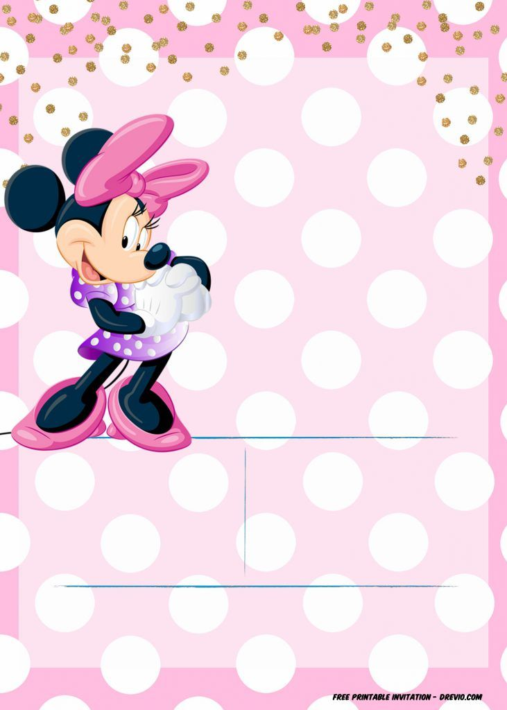 Minnie Mouse Invitation Template Editable And Free Download