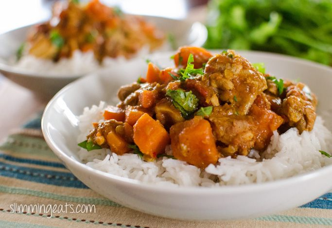 Slimming Eats Chicken, Sweet Potato and Lentil Curry - gluten free, dairy free, Slimming World and Weight Watchers friendly