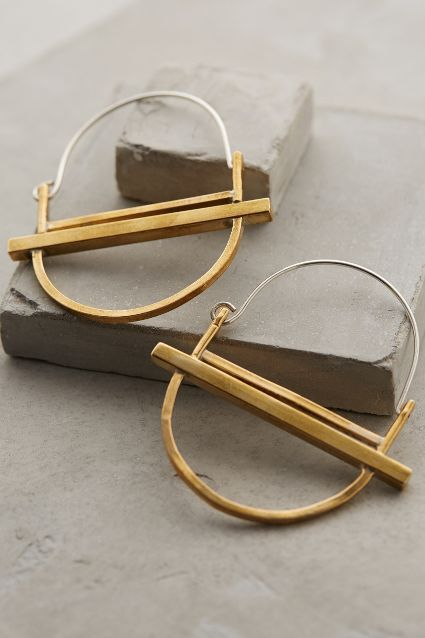 Luna Hinged Hoops by Winifred Grace