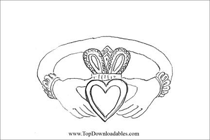 Celtic Wedding Coloring Page