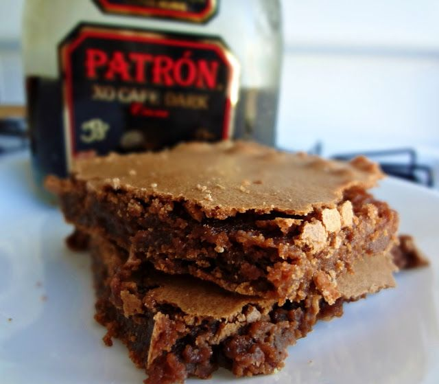 The Cooking Actress: Boozy Brownies (sweet, gooey brownies made with Patron XO Cafe Dark Cocoa!)