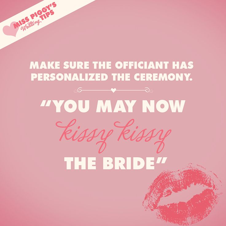 Miss Piggy Bridal Tip Make Sure The Officiant Has Personalized The Ceremony Disney Bridal