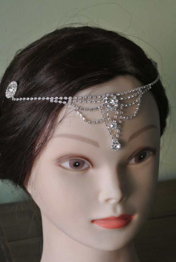 bridal headpiece tiara prom band forehead jewelry