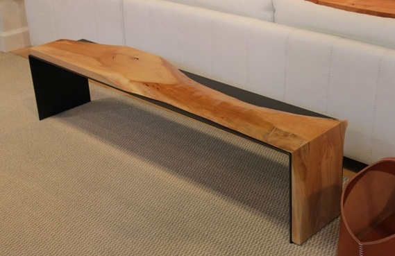 Urban Hardwoods Furniture - Seattle, pacific madrone + steel bench