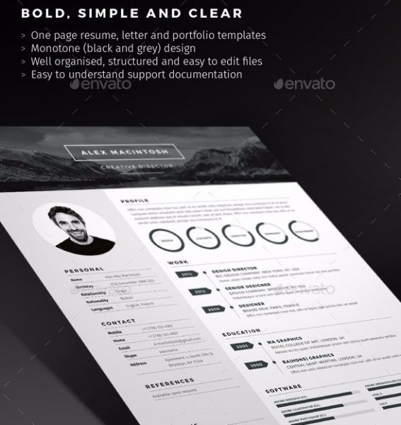 67 Best Resume Templates Images On Pinterest | Resume Templates