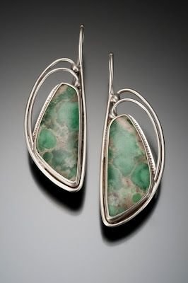 Nisa Jewelry   Utah Varacite Earrings, crafted with silver