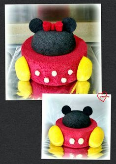Loving Creations for You: Minnie and Mickey Mouse Couple Chiffon Cakes