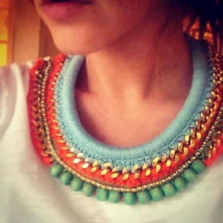 #jewelry #necklace #crochet #collar #accessories #diy
