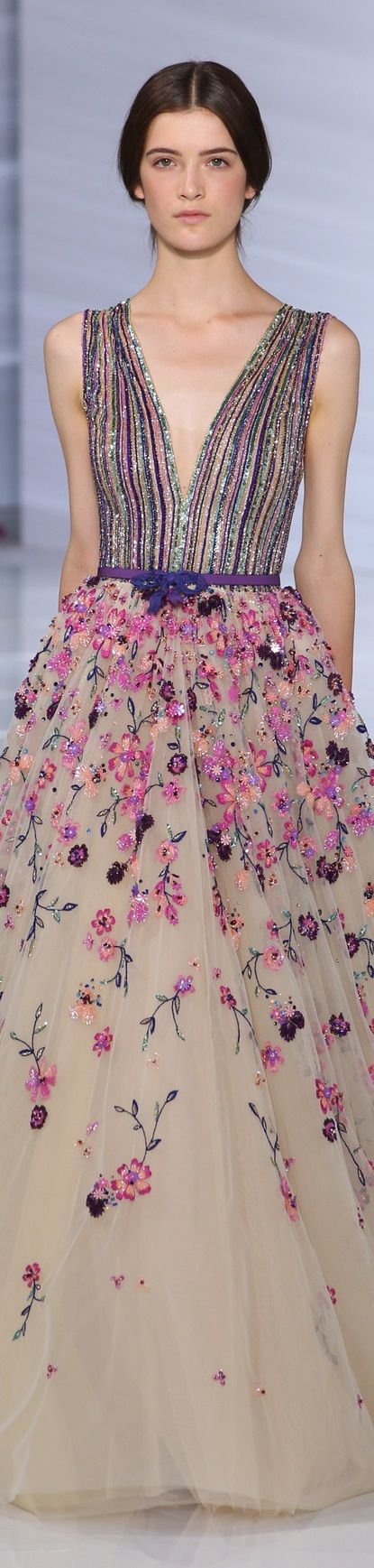 //Georges Hobeika Fall 2015 couture #fashion #floral #couture
