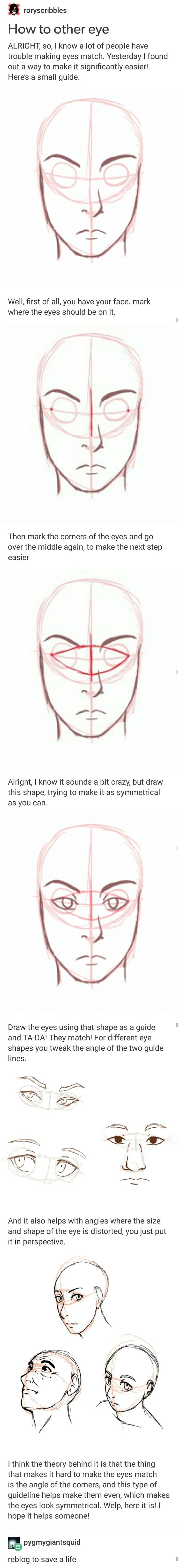 How to draw the second eye