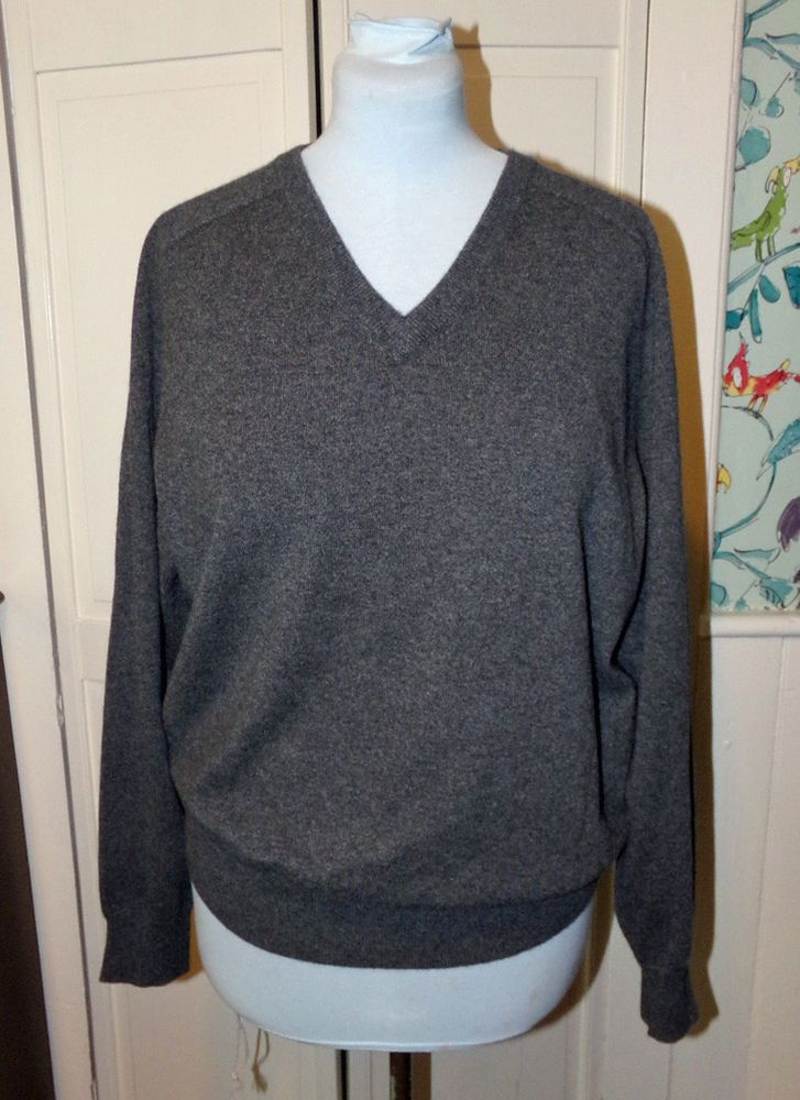 Men/'s Crewneck V-neck Pullovers Sweater Coat 100/% Mink Cashmere Casual Sweater