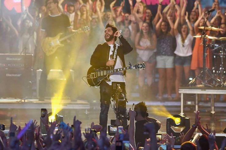 "American country music singer-songwriter Thomas Rhett premiered a new song ""Unforgettable"" from his third album ""Life Changes""."