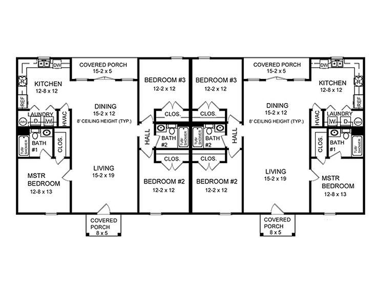 70 best images about house plans multi family on for Multi family house plans apartment