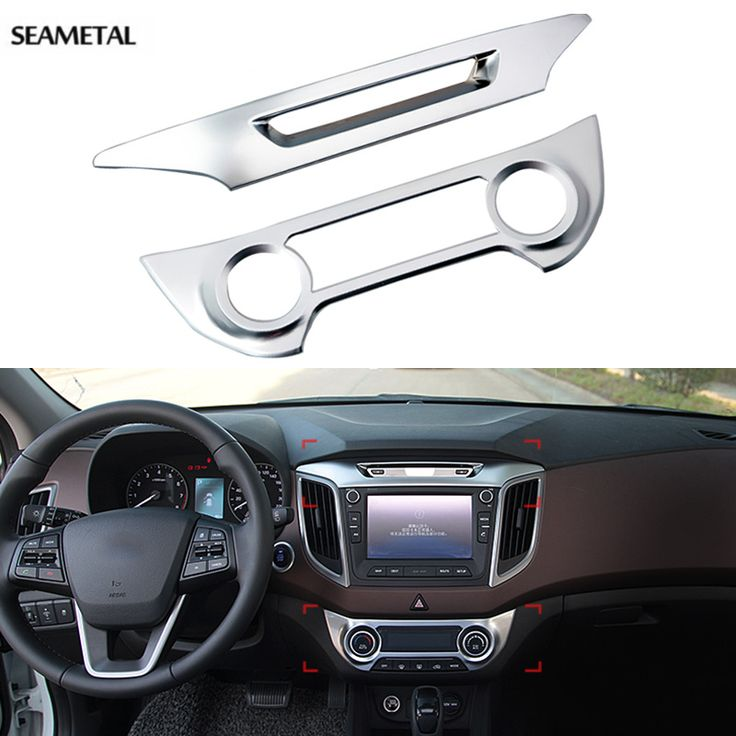 Center Console Panel Stickers Sequin Frame Interior Decoration For Hyundai Creta IX25 2016 Auto Accessories Car-styling