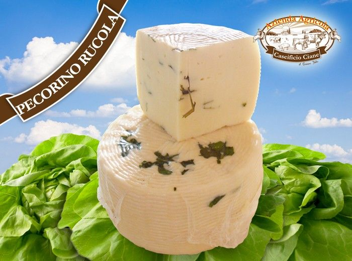 Fresh Pecorino cheese with arugula  #sicilian #cheese #pecorino #arugula #rucola #formaggi #siciliani #fromages #siciliens