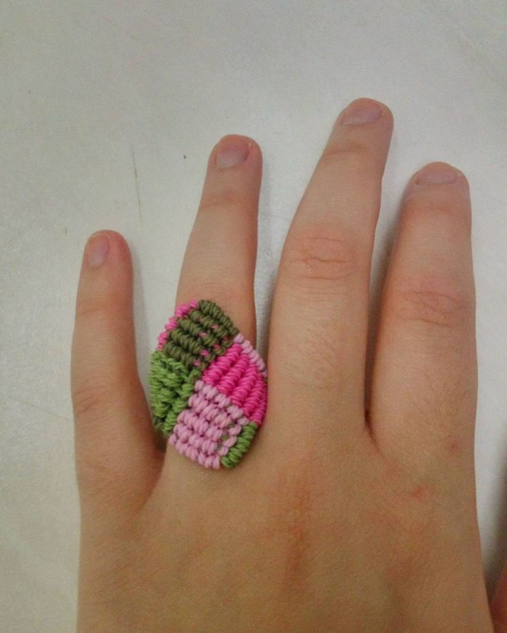 """Girl scout"" square ring"