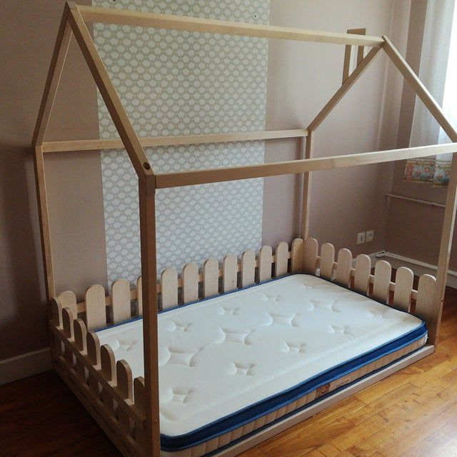 Children Bed Twin Size Montessori Bed Floor Bed Children Crib Frame Bed Toddler Bed House Bed Bed House Unique Bed Bedroom Interior Slats In 2020 Kid Beds House Beds Toddler Bed