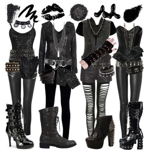 Try out this Black Veil Brides costume with your friends!